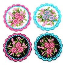 원형레이스 전통꽃다발(와펜)