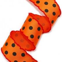 오렌지/검정 골직 큰 땡땡이(빨강피코트)
