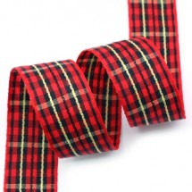 빨강검정/가운데노랑두줄라인(체크)