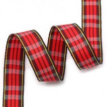 빨강톤/노랑검정라인 빨강3선(체크)