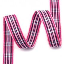 핑크톤/양가흰색파스텔(체크)
