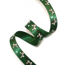 초록공단/흰색리본(크리스마스리본)