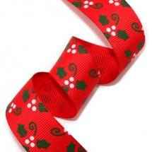 빨강골직/초록성탄잎사귀(크리스마스리본)