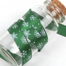 초록공단/흰색눈꽃(크리스마스리본)