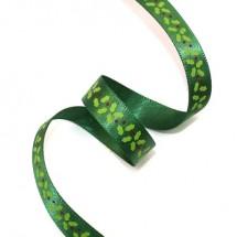 초록공단/성탄잎사귀(크리스마스리본)