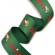 초록골직/빨강영문 산타모자(크리스마스리본)