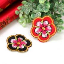 무궁화 꽃(자수와펜)