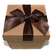크라프트 마름모정사각 상자(밤색)