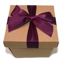 크라프트 마름모정사각 상자(보라)