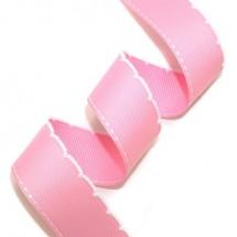 핑크/흰색*흰색실(한쪽스티치피코트)
