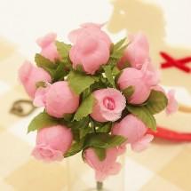 핑크/항아리장미(조화)