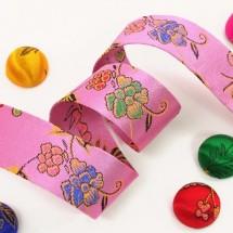 핑크/꽃무늬한복(원단리본)
