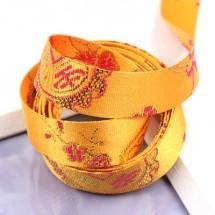 노랑/금사 한복전통무늬(원단리본)