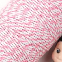 핑크/양색 트와인(꽈배기)