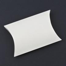 (중형)아이보리펄/핸드메이드 반달상자(접지상자)