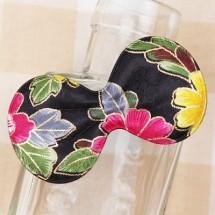 검정/금박매화꽃 둥근리본(초음파장식)