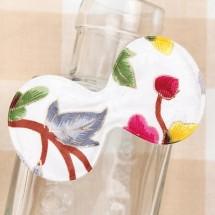 흰색/금박매화꽃 둥근리본(초음파장식)