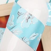 하늘/전통 산약초꽃무늬(원단리본)