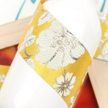 노랑/전통 산약초꽃무늬(원단리본)