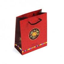 (小)빨강/꽃자수배경 전통(쇼핑백)