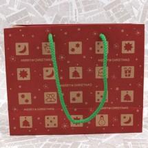 빨강/쿠키 크리스마스 쇼핑백