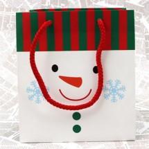 흰색/미니미 크리스마스 쇼핑백(도시락형)