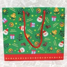 초록/패턴크리스마스 쇼핑백