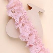핑크/홑겹해바라기레이스