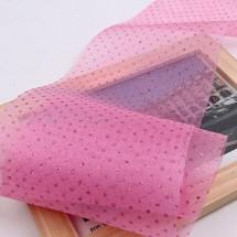 핑크색/글리터포인트 망사(원단리본)
