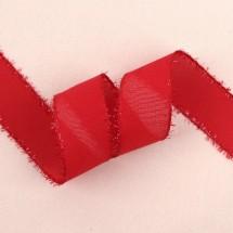 빨강색/매쉬샤넬오간디(반짝이피코트)