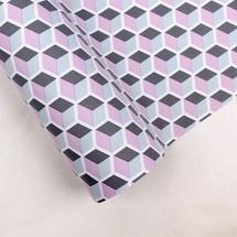 핑크색/사각무늬(롤포장지)
