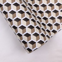 베이지색/사각무늬(롤포장지)