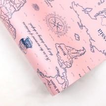 핑크색/세계지도(롤포장지)