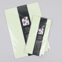 양파지 연두색/한지 편지지 봉투(No.21)