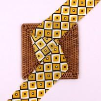 노랑색/모자이크쉬폰(원단리본)