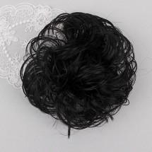 검정색/볼륨가발머리끈