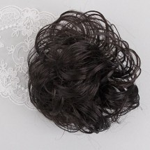 흑갈색/볼륨가발머리끈