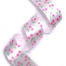 [20%할인]귀여운체리/흰색바탕핑크(공단전사프린트)
