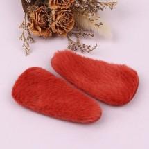 다홍색/포근퍼 삼각똑딱핀커버