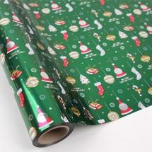 초록색/산타와크리스마스(롤증착지)