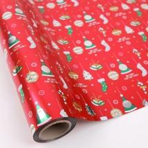 빨강색/산타와크리스마스(롤증착지)