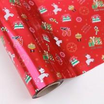 빨강색/루돌프와크리스마스(롤증착지)