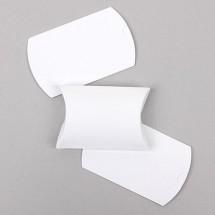 (소형)흰색/리본엠보 반달상자(접지상자)