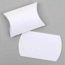 (중형)흰색/리본엠보 반달상자(접지상자)