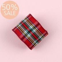 [50%할인]빨강톤/넓은 혼합(체크)