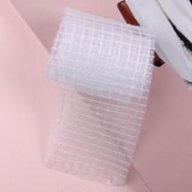 흰색/직사각펄망사(원단리본)