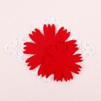 빨강색/뾰족카네이션펠트2(원단장식)
