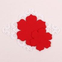 빨강색/둥근카네이션펠트2(원단장식)