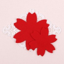 빨강색/둥근카네이션펠트1(원단장식)