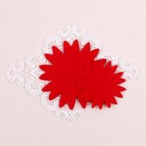 빨강색/뾰족카네이션펠트1(원단장식)